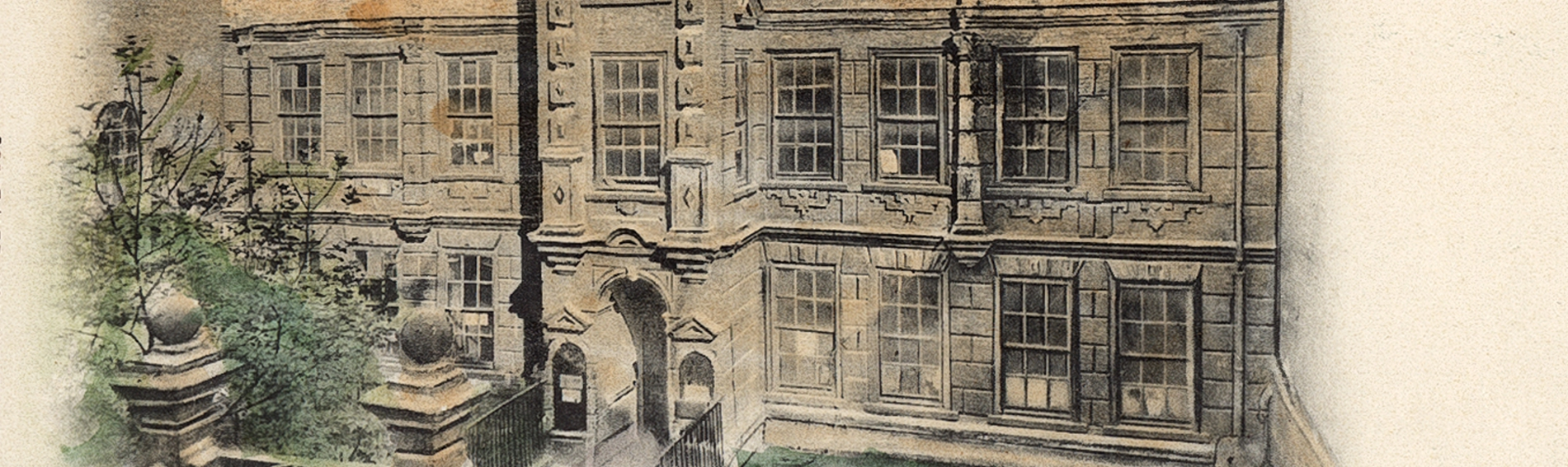 Detail of an illustration of Wilberforce House - birthplace of anti-slavery campaigner William Wilberforce